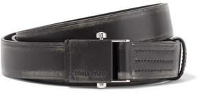 Miu Miu Distressed Leather Belt - Black