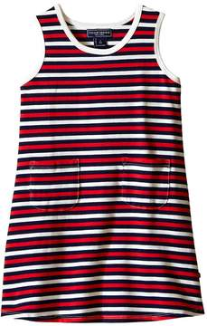 Toobydoo Tank Dress Navy/Red/White Stripe (Infant/Toddler)