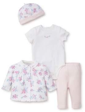 Little Me Baby Girl's Four-Piece Garden Bodysuit Set