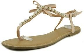 Material Girl Perlie Open Toe Canvas Thong Sandal.