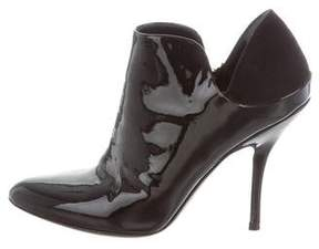 Gucci Patent Leather Pointed-Toe Booties