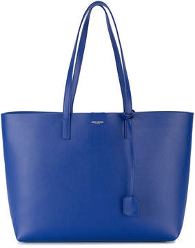 Saint Laurent Blue Leather Shopper Tote Bag - BLUE - STYLE