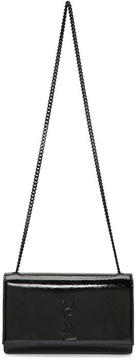 Saint Laurent Black Patent Medium Kate Chain Bag