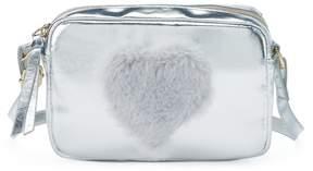 T-Shirt & Jeans Fuzzy Heart Crossbody Bag