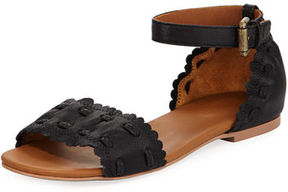 See by Chloe Jane Scalloped Ankle-Wrap Sandal