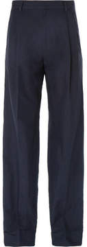 Dries Van Noten Wide-Leg Cotton And Linen-Blend Twill Trousers