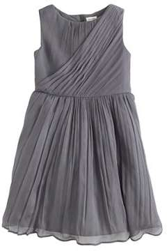 J.Crew Girls' draped dress in crinkle chiffon