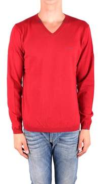 Sun 68 Men's Red Wool Sweater.