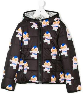 Fendi printed reversible padded jacket