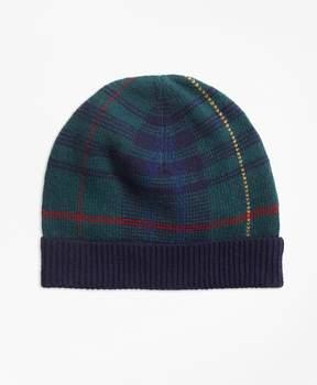 Brooks Brothers Tartan Merino Wool-Blend Hat