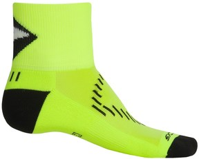 Brooks Infiniti Nightlife Stretch Socks - Quarter Crew (For Men and Women)