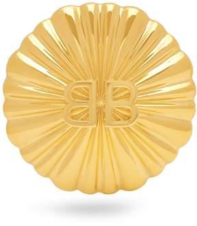 Balenciaga Round Licence crystal single earring