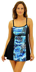 Fit 4 U Fit 4 Ur C's Scattered Elements Blocked DoubleBow Dress