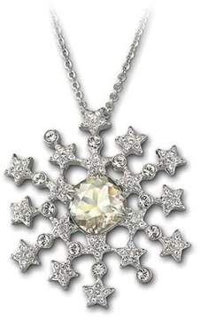 Swarovski Marbella Snowflake Pendant Brooch