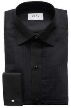 Eton Evening Plisse Front Slim-Fit Shirt