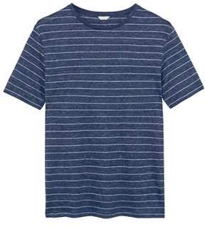 Gant Men's Blue Linen T-shirt.