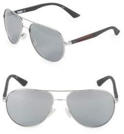 Puma 59MM Aviators Slash Temple Sunglasses
