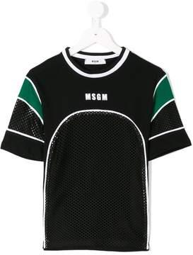 MSGM mesh panel logo T-shirt