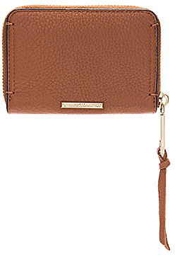 Rebecca Minkoff Mini Regan Zip Wallet - ALMOND - STYLE