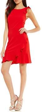 Donna Morgan Ruffle Body Con Dress