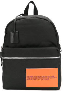Calvin Klein 205W39nyc patch detail backpack