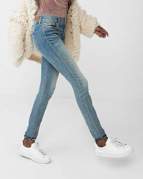 Express Mid Rise Embroidered Stretch Jean Leggings