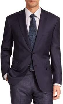 Brioni Solid Tailored Wool Jacket
