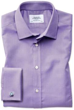 Charles Tyrwhitt Extra Slim Fit Egyptian Cotton Royal Oxford Lilac Dress Shirt French Cuff Size 15/33