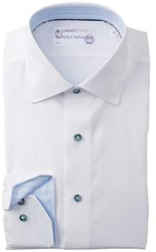 Lorenzo Uomo Textured Trim Fit Dress Shirt