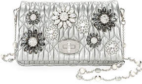Miu Miu Matelasse Flowers Shoulder Bag