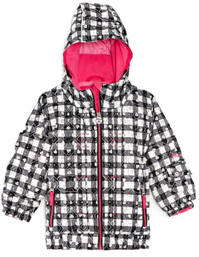 Obermeyer Girls' Serenity Black & White Waterproof Ski Jacket