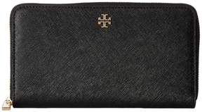 Tory Burch Robinson Zip Continental Wallet Wallet Handbags - BLACK - STYLE