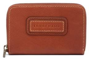 Longchamp Legend Leather Zip Coin Purse - COGNAC - STYLE