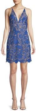 Dress the Population Women's Allie Lace Mini Dress