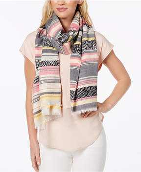 Calvin Klein Yarn-Dyed Textured Scarf & Cover-Up