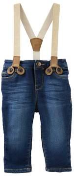 Osh Kosh Baby Girl Sparkle Suspender Jeans