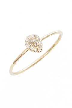 Ef Collection Women's Teardrop Diamond & Topaz Stack Ring