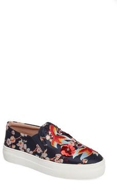 Topshop Women's Theory Goldfish Embellished Slip-On Sneaker