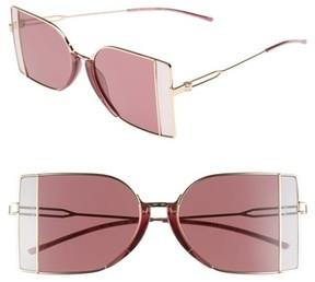 Calvin Klein Women's 51Mm Butterfly Sunglasses - Light Gold