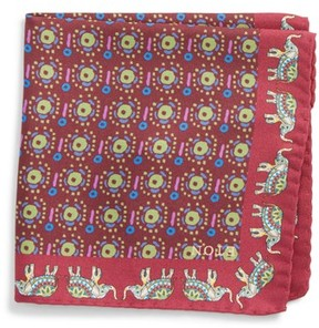 Eton Men's Elephant Silk Pocket Square