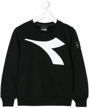 Diadora Junior contrast logo sweater