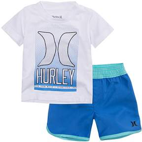 Hurley Baby Boy Graphic Tee & Shorts Set