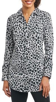 Foxcroft Women's Fay Animal Print Shirt