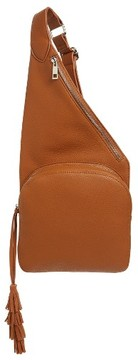 Street Level Faux Leather Crossbody Bag - Brown