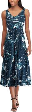 Chaps Petite Floral Print Sleeveless Dress