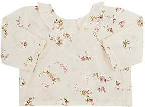 Bonpoint Floral Cotton Long-Sleeve Blouse