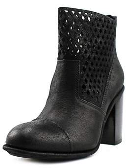 Calvin Klein Jeans Melina Women Round Toe Leather Black Mid Calf Boot.