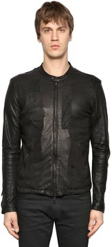 Giorgio Brato Patchwork Nappa Leather Jacket