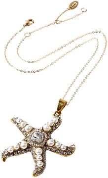 Amrita Singh Crystal & Goldtone Mauritius Star Pendant Necklace