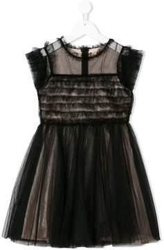 Elisabetta Franchi La Mia Bambina tulle overlay dress